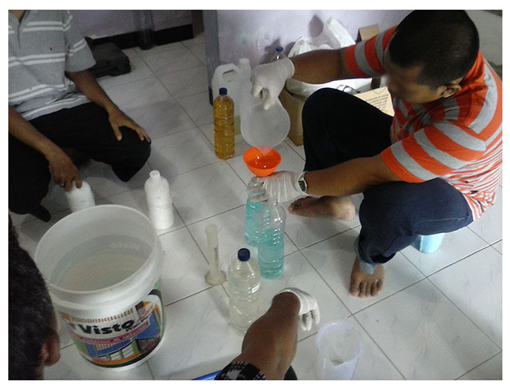 training laundry chemical